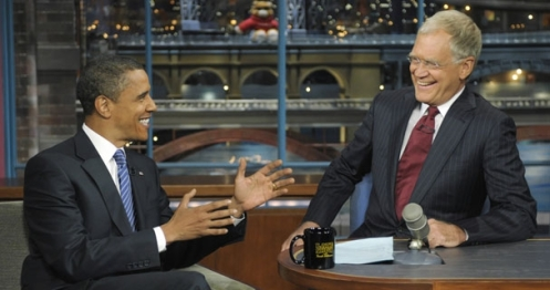 Barack Obama on Letterman
