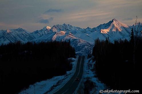 Mountain outside of Wasilla, Alaska